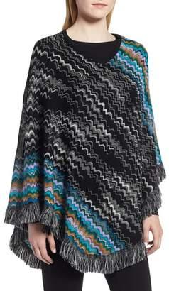 Missoni Zigzag Fringe Wool Poncho