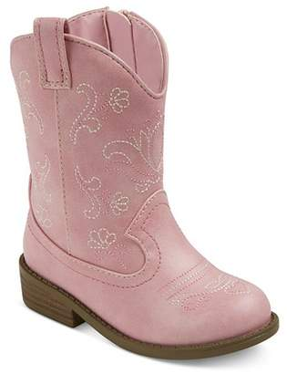 Cat & Jack Toddler Girls' Chloe Classic Cowboy Western Boots