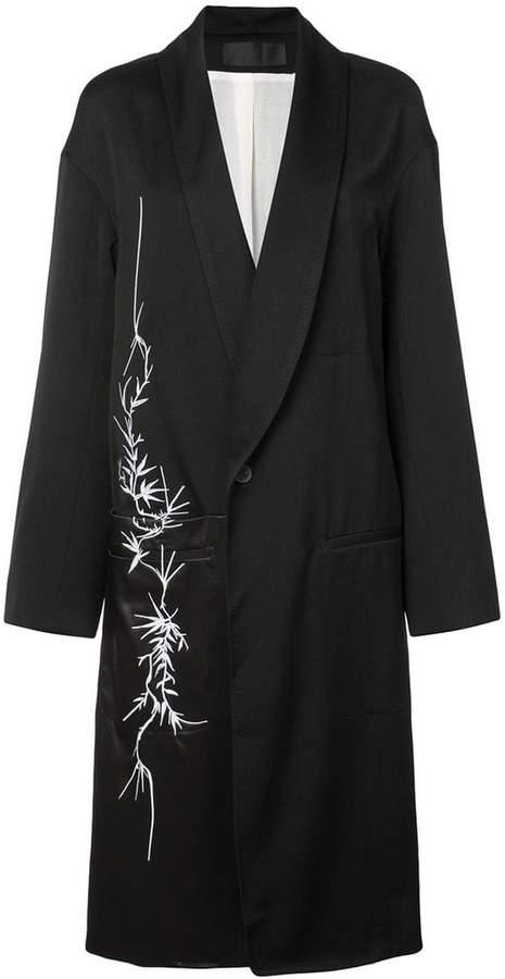 floral motif coat