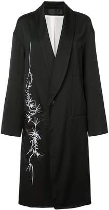 Haider Ackermann floral motif coat
