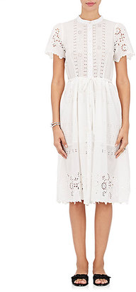 Sea Women's Cotton Eyelet Belted Shirtdress $435 thestylecure.com