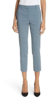 Theory Treeca Two Hexagonal Wool Blend Pants