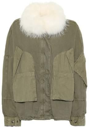 Yves Salomon Army Fur-trimmed cotton jacket