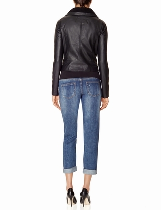 The Limited Shawl Collar Faux Leather Moto Jacket