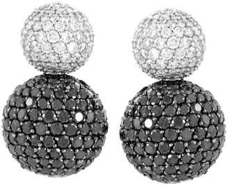 Diamond Select Cuts 18K 3.61 Ct. Tw. Diamond Drop Ball Earrings