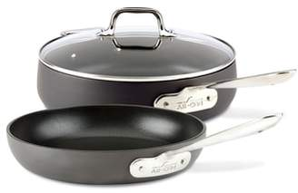 All-Clad HA1 Hard Anodized 3-Piece Saute Pan Set