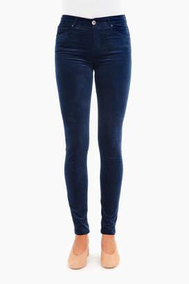 AG Jeans Blue Night Farrah Skinny Velvet