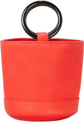 Simon Miller Bonsai Red Leather Mini Bucket Bag