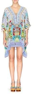 Camilla Rio With Love Silk Lace-Up Caftan