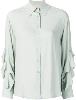 Cavallini Erika ruffle sleeve shirt