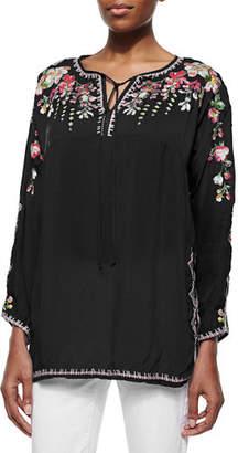 b6a1163da8cdf2 Johnny Was Petite Vanessa Georgette Embroidered Tunic
