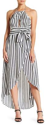 Flying Tomato Striped Tie Up Dress
