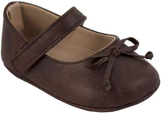 Baby Girl Wee Kids Brown Mary Jane Crib Shoes