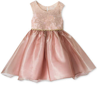 Rare Editions Baby Girls Embroidered & Organza Dress