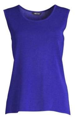 Misook Women's Knit Tank Top - Blue Flame - Size XS