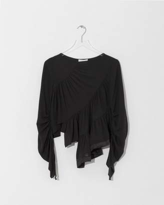 3.1 Phillip Lim Black Ruffle Layer Blouse