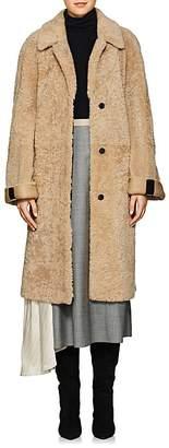 Prada Women's Belted Shearling Coat