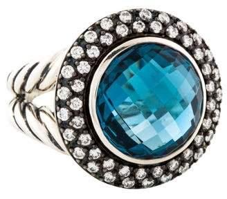David Yurman Topaz & Diamond Cerise Ring