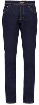 Jacob Cohen Mid Rise Slim Leg Customised Jeans - Mens - Blue