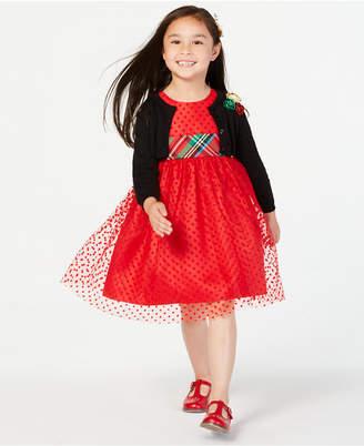 Blueberi Boulevard Toddler Girls 2-Pc. Dress & Cardigan Set