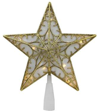 The Holiday Aisle Glitter Star LED Christmas Tree Topper
