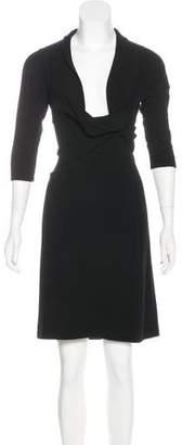 Ralph Lauren Black Label Cashmere Knee-Length Dress
