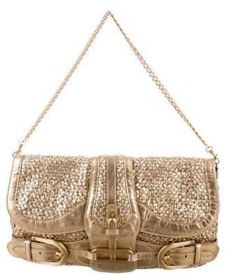 Jimmy Choo Gold Metallic Woven Bag