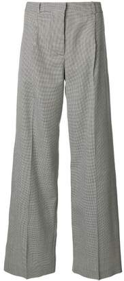 Victoria Beckham houndstooth pattern trousers