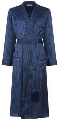 Derek Rose Graphic Print Silk Dressing Gown