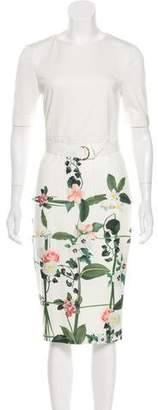 Ted Baker Floral Print Belted Dress