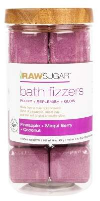 Raw Sugar Pineapple + Maqui Bath Fizzers Canister - 8ct