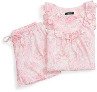 Ralph Lauren Paisley Pajama Short Set