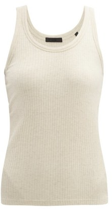 Atm - Wide Rib Tank Top - Womens - Cream