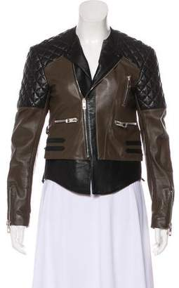 Balenciaga Leather Zip-Up Jacket