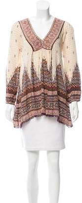 Calypso Silk Long Sleeve Tunic