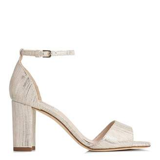 5f07b9a14a4 at Brand Alley · Metallic Cream Leather Helena Sandals