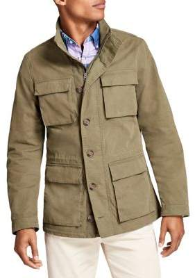 Brooks Brothers Red Fleece Washed Canvas Field Jacket