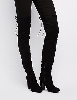 Lace-Up Back Over-The-Knee Boots $52.99 thestylecure.com