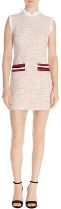 Sandro Morgan Ruffled Tweed Mini Dress