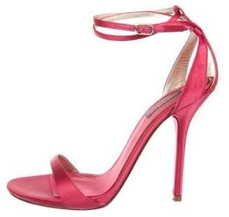 Dolce & Gabbana Satin Ankle-Strap Sandals
