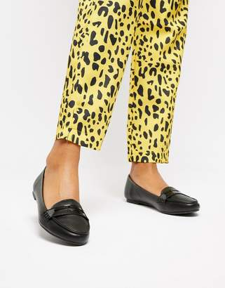 Head Over Heels by Dune Gabbey black penny loafer shoes