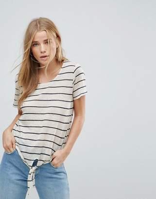 Vero Moda Stripe Tie Front T-Shirt