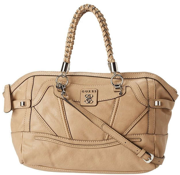 GUESS Sidney Satchel (Camel) - Bags and Luggage
