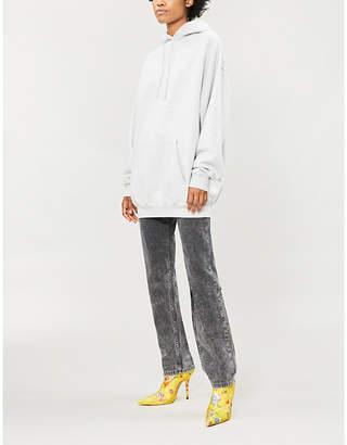 Balenciaga Logo-print oversized cotton-blend hoody