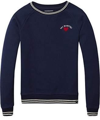 Scotch & Soda R'Belle Girl's Crewneck Racing Sweat Sweatshirt,(Manufacturer Size: 10)