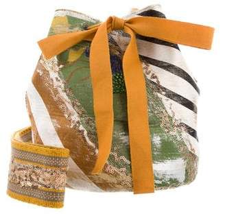 Silvia Tcherassi Laaput Mochila Woven Bucket Bag