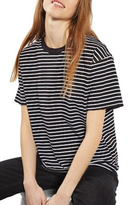 Women's Topshop Stripe Boxy Tee $28 thestylecure.com