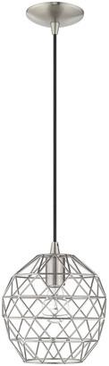 Livex Lighting Livex Geometric Shade 1 Lt Brushed Nickel Mini Pendant