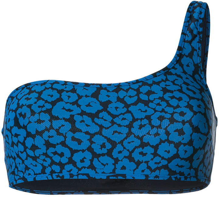Stella McCartney leopard print bikini top
