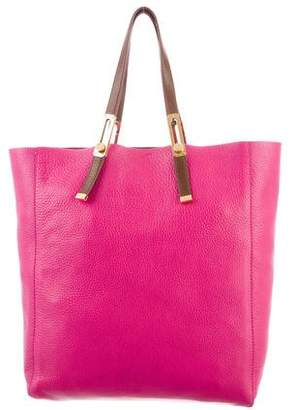 Stuart Weitzman Leather and Suede Tote